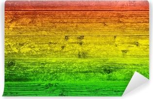 Vinylová Fototapeta Dřevěná deska na pozadí v barvách reggae