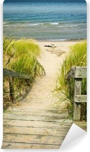 Vinylová Fototapeta Dřevěné schody přes duny na pláži