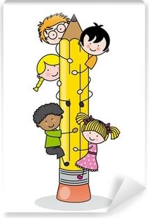 Fototapeta winylowa Dzieci do wspinania się ołówek