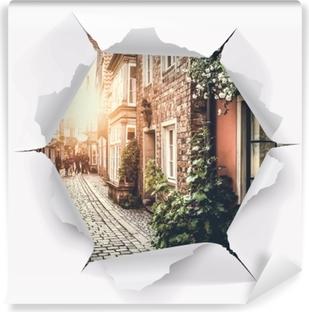Fototapeta winylowa Dziura w ścianie - Stare ulice