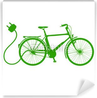Vinylová Fototapeta E-Bike silueta vektor