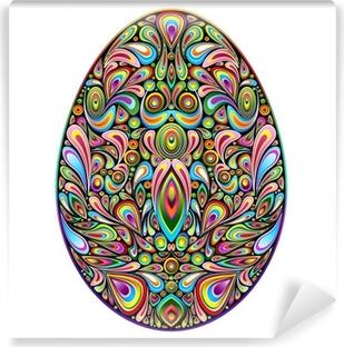 Fototapeta winylowa Easter egg psychodeliczny sztuki projektowania ozdobnych pisanka