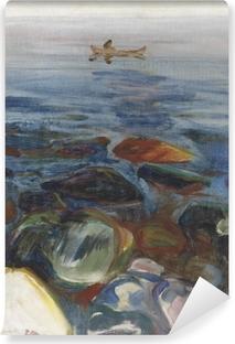 Fototapeta winylowa Edvard Munch - Łódź na morzu