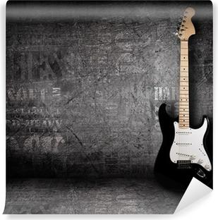 Vinylová Fototapeta Elektrická kytara a stěny