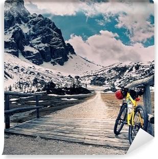 Vinylová Fototapeta Escursione v montain kole