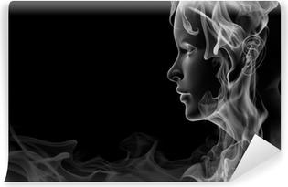 Vinylová Fototapeta Face z kouře