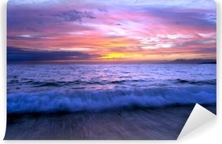 Fototapeta winylowa Fal oceanicznych zachód słońca