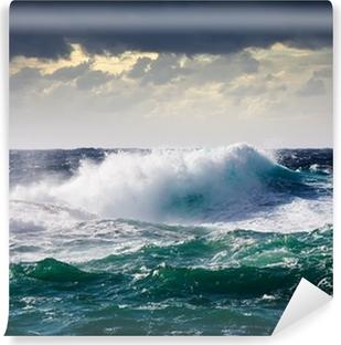 Fototapeta winylowa Fala morska podczas sztormu
