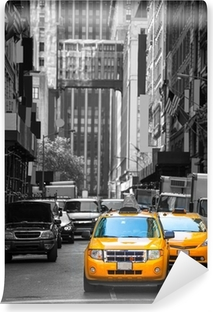 Vinylová Fototapeta Fift avenue neigbourhood žlutý taxík taxi 5. Av