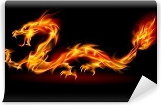 Vinylová Fototapeta Fire Dragon