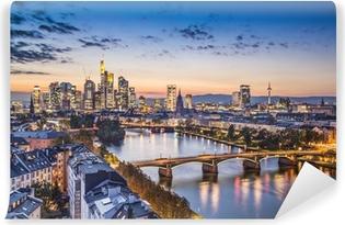 Vinylová Fototapeta Frankfurt, Německo Letecký pohled