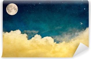 Vinylová Fototapeta Full Moon a oblaky