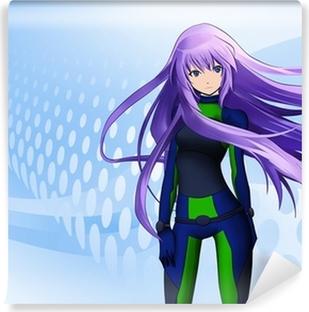 Fototapeta winylowa Futurystyczne anime girl