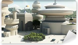 Fototapeta winylowa Futurystycznym science-fiction townscape