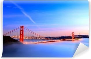 Vinylová Fototapeta Golden gate bridge v mlze