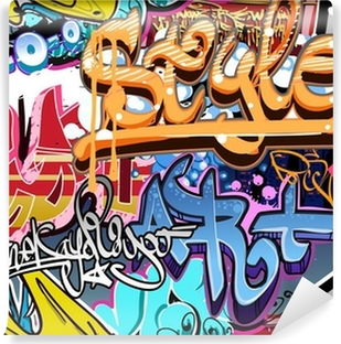 Vinylová Fototapeta Graffiti stěna. Urban art vektor pozadí. Bezešvé textury