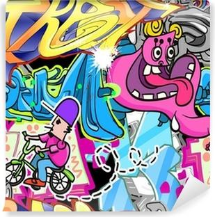 Vinylová Fototapeta Graffiti Urban Art Vector pozadí