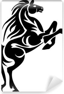 Fototapeta winylowa Grafika wektorowa - Koń w stylu tribal. winylu gotowe.