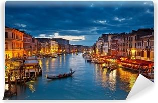 Fototapeta winylowa Grand Canal w nocy, Wenecja