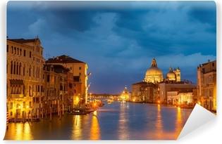 Vinylová fototapeta Grang kanál v noci, Benátky
