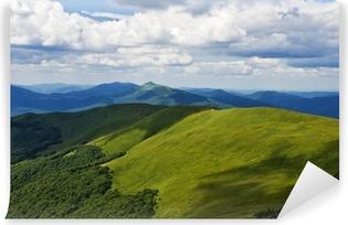 Vinylová Fototapeta Green Mountain Bieszczady