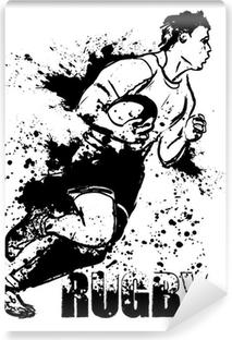 Vinylová Fototapeta Grunge rugby