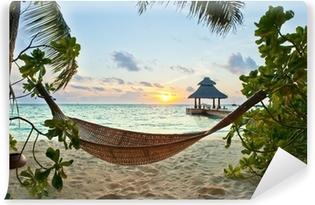 Fototapeta Winylowa Hamak na plaży