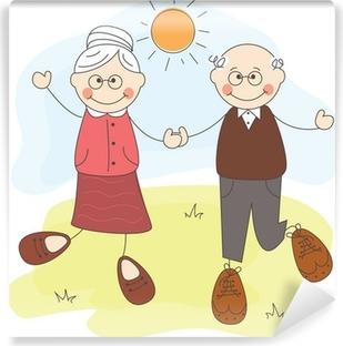 Fototapeta winylowa Happy dziadków