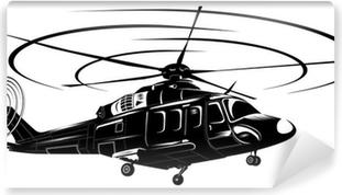 Vinylová Fototapeta Helicopter1-BW