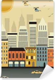 Vinylová Fototapeta Helikoptéry nad New York.