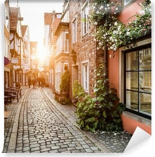 Vinylová Fototapeta Historic District při západu slunce v Brémách v Německu Schnoor