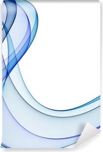 Vinylová Fototapeta Hladké vlny z tóny modré na bílém pozadí