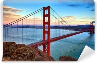 Vinylová Fototapeta Horizontální pohled Golden Gate Bridge