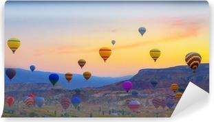 Vinylová Fototapeta Horkovzdušné balóny při západu slunce