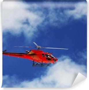 Vinylová Fototapeta Horská vrtulník