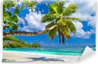 Fototapeta winylowa Idylliczna tropikalna sceneria - Seszele