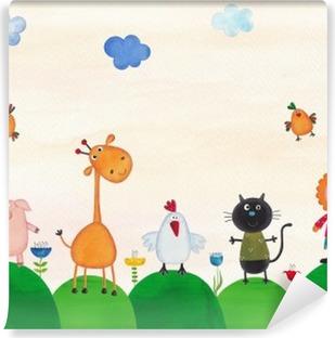 Vinylová Fototapeta Ilustrace pro děti
