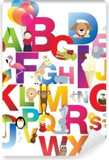 Fototapeta winylowa Ilustracja dla dzieci alfabet