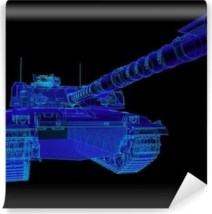Fototapeta winylowa Ilustracja techniczna Challenger czołg.