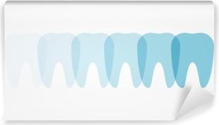 Fototapeta winylowa Ilustracja zęby