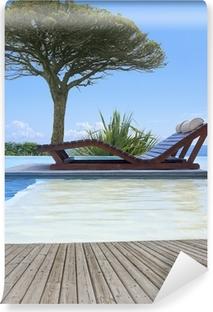 Vinylová Fototapeta Infinity bazén Provence
