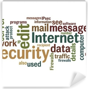 Fototapeta winylowa Internet security tekst chmura