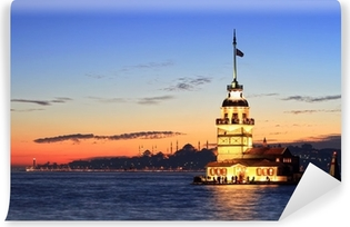 Vinylová Fototapeta Istanbul Maiden Tower od východu