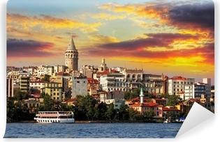 Vinylová Fototapeta Istanbul při západu slunce - Galata okres, Turecko