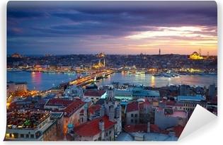 Vinylová Fototapeta Istanbul Sunset Panorama
