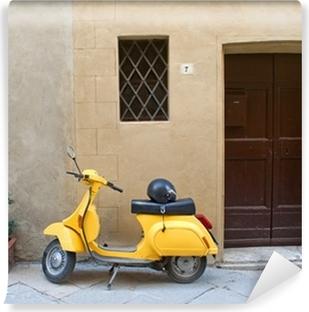 Vinylová Fototapeta Italský skútr žlutá