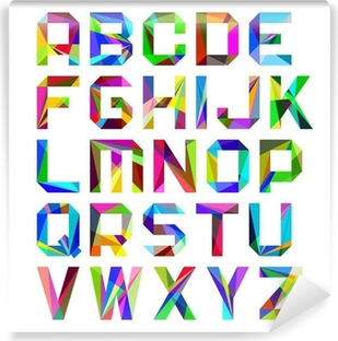 Fototapeta winylowa Jasne litery alfabetu