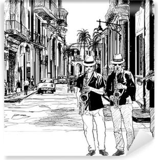 Vinylová Fototapeta Jazzová kapela na Kubě