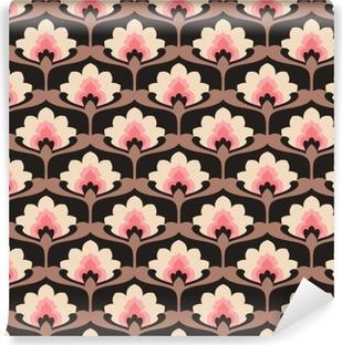 Fototapeta Winylowa Jednolite rocznika wzór kwiatów