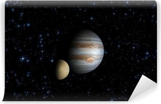 Fototapeta winylowa Jowisz i jego satelita